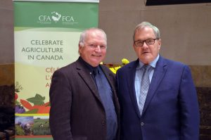 CFA President Ron Bonnett with Minister MacAulay